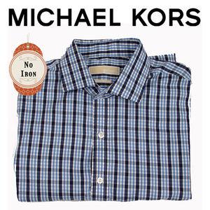 Michael Kors Black and Blue button up dress shirt